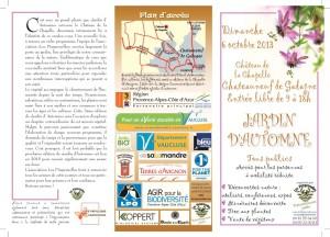 programme Jardin d' Automne 2013